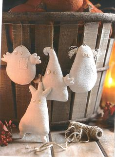 Cute Linen Ghosts