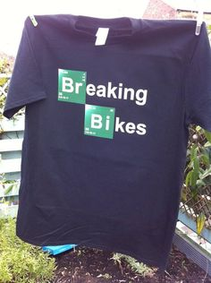 Breaking Bad Parody Tshirt Breaking Bikes by Thestickerjob on Etsy