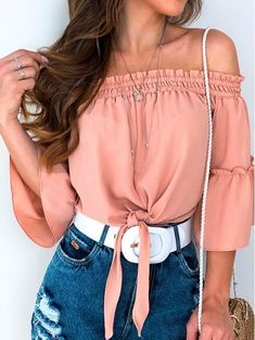 Crop Top Outfits, Cute Outfits, Casual Wear, Casual Dresses, Look Con Short, She Is Clothed, Tumblr Outfits, Bra Tops, Aesthetic Clothes