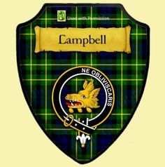 Campbell Of Breadalbane Ancient Tartan Crest Wooden Wall Plaque Shield Tartan Wedding, Wooden Wall Plaques, Light Colored Wood, Scottish Clans, Family Crest, Genealogy, Tank Man, Modern, Hunting