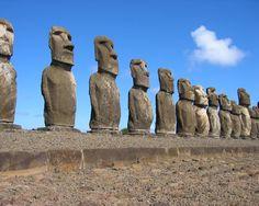 Estatuas isla de Pascua.