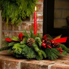 christmas centerpieces with tapered candles - Bing Images