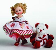 Madame Alexander Peppermint Swirl Doll & Bear
