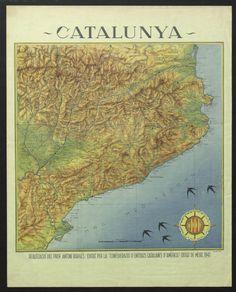"""""""Cartell de promoció de Catalunya dels catalans a l'exili"""", 1947. Courtesy of the Biblioteca de Catalunya (http://www.bnc.cat). (Rights Reserved - Free Access) http://www.europeana.eu/portal/record/91932/9A29A4BDE4701B0E96377D60E4BA4AD740681F8C.html"""