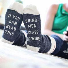 If You Can Read This Bring Me a Glass of Wine Socks Cotton Winter Christmas Socks If You Can Read This Socks Women Socks sokken Free Dobby, Cozy Socks, Red Socks, Custom Socks, Funny Socks, Novelty Socks, Novelty Gifts, Women's Socks & Hosiery, Stylish Kids