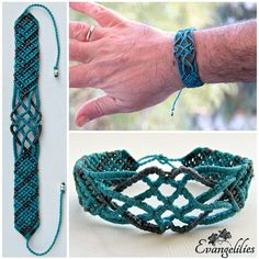 "135 Likes, 9 Comments - Evangelia Matoula (@evangelilies) on Instagram: ""✿ ""Celtic..."" men's macrame bracelet ...the last one i made before we leave for our trip to…"""