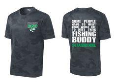 Fishing Dad Buddy Moisture Wicking T Shirt I'm Raising Mine Father Tee Fishing Shirt Dad Bass Shirt Parent Gift Camouflage Free Shipping
