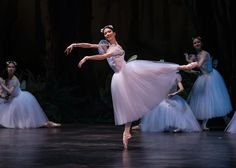 Hungarian National Ballet - Shoko Nakamura in La Sylphide. Photo: Emma Kauldhar