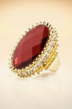 Stone cocktail ring #BostonProper #Holiday #Sparkle #Jewels