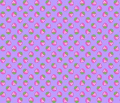 Strawberries violet fabric by mezzo on Spoonflower - custom fabric