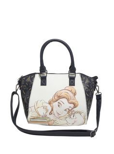 Disney Beauty And The Beast Belle Mrs. Potts & Chip Satchel Bag,