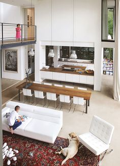 modern interior home design room design decorating Kitchen Design Open, Open Plan Kitchen, Kitchen Modern, Kitchen Layout, Kitchen Ideas, Küchen Design, House Design, Design Ideas, Plan Design