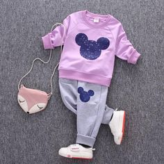 Mickey Mouse Clothing Set [6M-5T] 19.99 CAD Winter Outfits For Girls, Boys And Girls Clothes, Toddler Boy Outfits, Baby & Toddler Clothing, Kids Outfits, Children Clothing, Baby Girl Halloween Outfit, Toddler Sports, Mickey Mouse Outfit