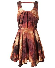 Abstract flame dress