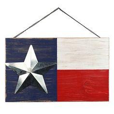 Americana Texas Flag Wall Decor