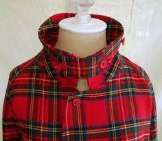 Burberry Mens Tartan Duffel coat.  LOVE this.