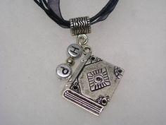 Harry Potter  Spellbook Pendant Necklace in by paulandninascrafts, $9.99