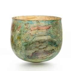 Merete Larsen at Patina Gallery. Turned Wood Vessel, Green and ...