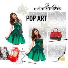 """Strapless Emerald Sherri Hill 32045 Short Prom Dress"" by shopdressesprom on Polyvore"