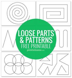 Parts and Pattern Pages Grab our free printable pattern pages, grab some loose parts ad work on fine motor skills, patterning, creativity and more!More and More More and More may refer to: Motor Skills Activities, Fine Motor Skills, Learning Activities, Preschool Activities, Reggio Inspired Classrooms, Reggio Classroom, Play Based Learning, Kids Learning, Math Patterns