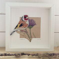 Goldfinch. Hand embroidered. www.violetshirran.com