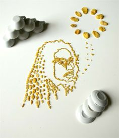 Jamaican reggae singer-songwriter Bob Marley in the form of Corn Flakes.