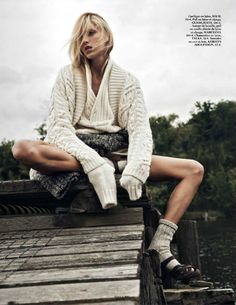 visual optimism; fashion editorials, shows, campaigns & more!: into the wild: anja rubik by lachlan bailey for vogue paris october 2014