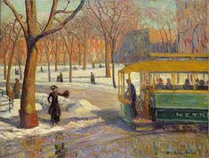 The Ashcan School | Thematic Essay | Heilbrunn Timeline of Art History | The Metropolitan Museum of Art The Green Car, 1910, William Glackens (American), Oil on canvas