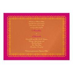 Indian Hindu Muslim Wedding Invitation Mehndi