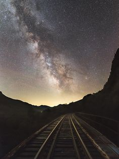 Milky Way Meets Frankenstein Trestle in New Hampshire's White Mountains White Mountains, Space Images, Beautiful Space, Milky Way, Frankenstein, New Hampshire, Night Time, Meet, Sky