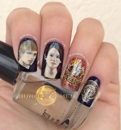 Hunger Games nail art. This is amazing oh my goodness it probably took a REALLY long time