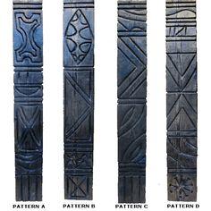 8 ft Redwood / Cedar Tiki Post by Bosko Tiki Pole, Tiki Tiki, Tiki Bar Decor, Polynesian Art, Tiki Lounge, Tiki Mask, Tiki Party, Concrete Art, Wood Carving Art