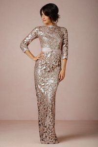 Champagne metallic gown