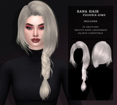 Hairstyles With Bangs, Braided Hairstyles, Cool Hairstyles, Sims 4 Mods Clothes, Sims 4 Clothing, Sims 4 Piercings, The Sims 4 Cabelos, Pelo Sims, 4 Braids
