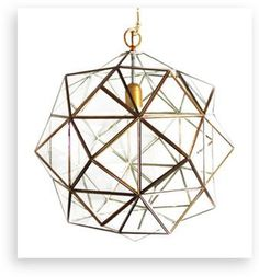 "Granada Lantern, Rombus, Brass, 14"" - contemporary - Pendant Lighting - l'aviva home"
