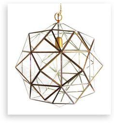 "Granada Lantern, Rombus, Brass, 14"" - contemporary - Pendant Lighting - l'aviva home"