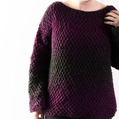 The Easiest Crochet Pullover Sweater You'll Ever Make!