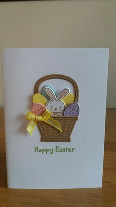 Easter card using Stampin Up Basket Bunch