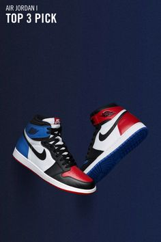 """premium selection ba78c 2a5fd The Air Jordan 1 Retro High OG """"Top Three"""" will restock on Nike SNKRS in  Japan. Blue Sneakers ..."""