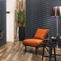 3D Grid Night Matt White Bodied Ceramic Wall Decor Tile 400x800mm
