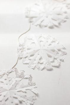 DIY: Guirnalda Copo de Nieve