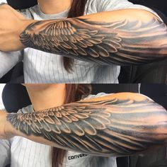 chinese tattoo designs, tattoos for girls, Feather Tattoos, Leg Tattoos, Body Art Tattoos, Tribal Tattoos, Sleeve Tattoos, Tattos, Chinese Tattoo Designs, Wing Tattoo Designs, Tattoo Sleeve Designs