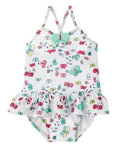 Baby Ivory Butterfly Butterfly 1-Piece Swimsuit by Gymboree