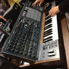 At #namm2017  visiting the #arturia booth, checking out the #matrixbrute #synth #analogheaven #synthporn #instasynth #gearslutz