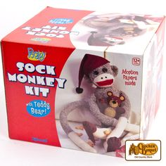 Experience this American classic with our fun craft kit, with everything you need to make your own one-of-a-kind sock monkey toy! Makes a great gift as a kit, or as a handcrafted keepsake.    Answer fun questions and you could win in the Cracker Barrel Old Country Store Pick it to Win it Sweepstakes. Start 'picking' your answers at crackerbarrel.com/win (ends Jan 2, 2013).