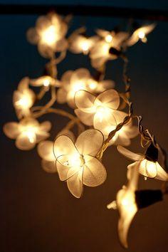 Superbe 20 Garland Flower Light White Flower String Lights For Bedroom Living Room  Patio Indoor Christmas Decorative