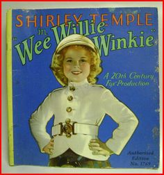 1937 Shirley Temple WEE WILLIE WINKIE Movie Storybook - For sale on Ruby Lane