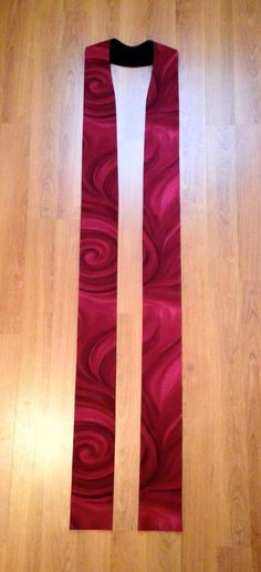 Red Clergy Stole for Pentecost, Reformation and Ordination Gift