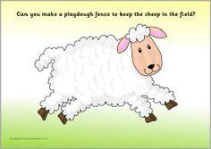 Farm animals playdough mats (SB8449) - SparkleBox