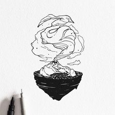 Le illustrazioni tascabili di Dario Anzà | PICAME Volcano Drawing, Wall Drawing, Ink Illustrations, Graphic Illustration, Art Sketches, Sketch Drawing, Artist Art, Black And White Illustration, Flash Art